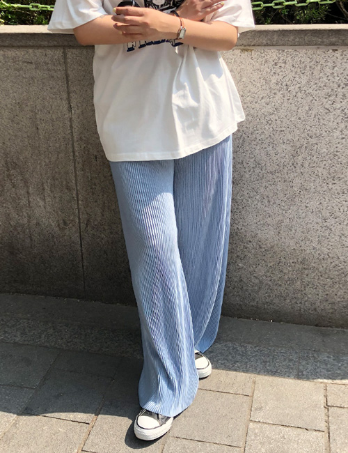 Summer spring pleats pants