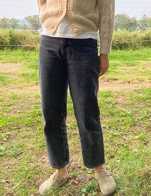 Solid Charcoal Jean(s~l)